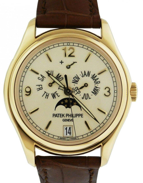 Men's Patek Philippe 5146J-001 Complications Annual Calendar Moon Phase Date 39mm Cream Arabic Index Yellow Gold Automatic BRAND NEW - Global Timez