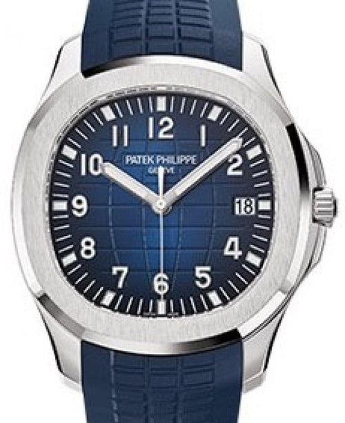 Men's Patek Philippe Aquanaut 5168G-001 Blue Arabic White Gold Composite 42.2mm Automatic - BRAND NEW - Global Timez