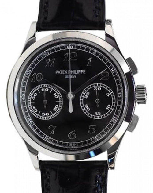 Men's Patek Philippe 5170G-010 Complications Chronograph 39.4mm Black Opaline Arabic White Gold Manual BRAND NEW - Global Timez