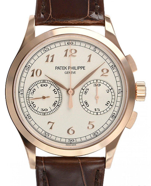 Men's Patek Philippe 5170R-001 Complications 39.4mm Silver Opaline Arabic Rose Gold Leather BRAND NEW - Global Timez