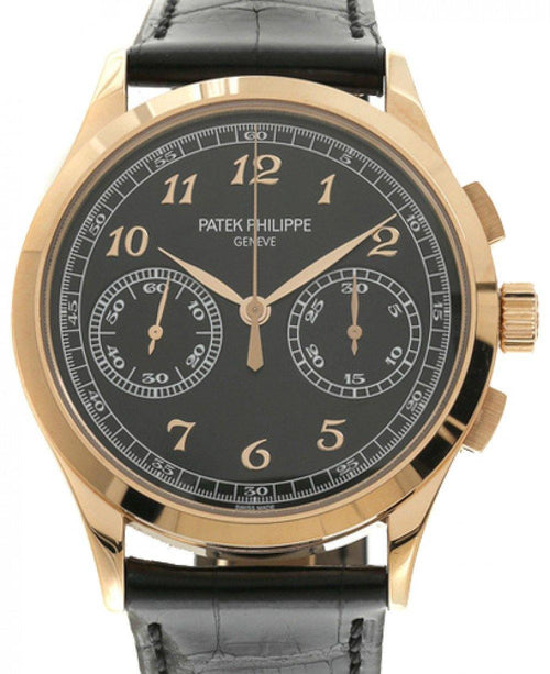 Men's Patek Philippe 5170R-010 Complications 39.4mm Black Opaline Arabic Rose Gold Leather BRAND NEW - Global Timez