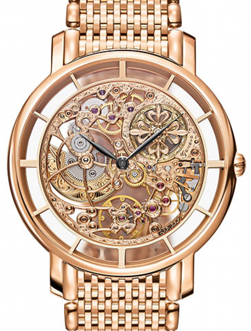 Men's Patek Philippe Complications Skeleton Index Rose Gold Bezel & Bracelet 39mm 5180/1R-001 - BRAND NEW - Global Timez
