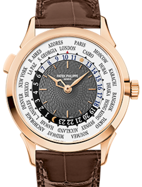 Men's Patek Philippe 5230R-001 Complications 38.5mm Charcoal Gray Arabic Rose Gold Leather BRAND NEW - Global Timez