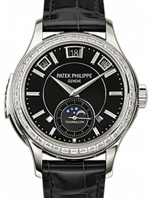 Men's Patek Philippe 5307P-001 Grand Complications Annual Calendar Day-Date Moon Phase 41mm Black Index Platinum Leather Manual BRAND NEW - Global Timez