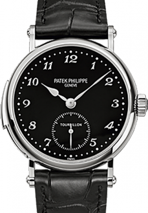 Men's Patek Philippe 5539G-001 Grand Complications 37mm Black Arabic White Gold Leather Manual BRAND NEW - Global Timez