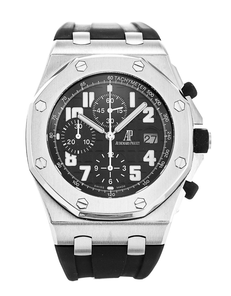 Audemars Piguet Royal Oak Offshore Men's Black Stainless Steel 26020ST.OO.D101CR.01 - BRAND NEW - Global Timez