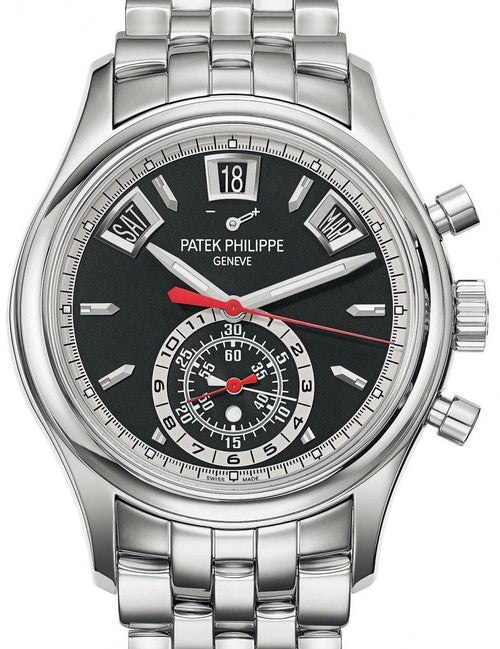 Men's Patek Philippe Complications 5960/1A-010 Black Index Stainless Steel 40.5mm Automatic - BRAND NEW - Global Timez