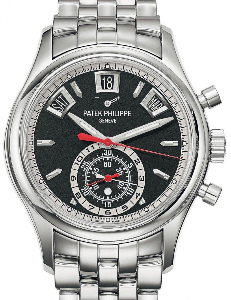 Men's Patek Philippe Complications 5960/1A-010 Black Index Stainless Steel 40.5mm Automatic - BRAND NEW