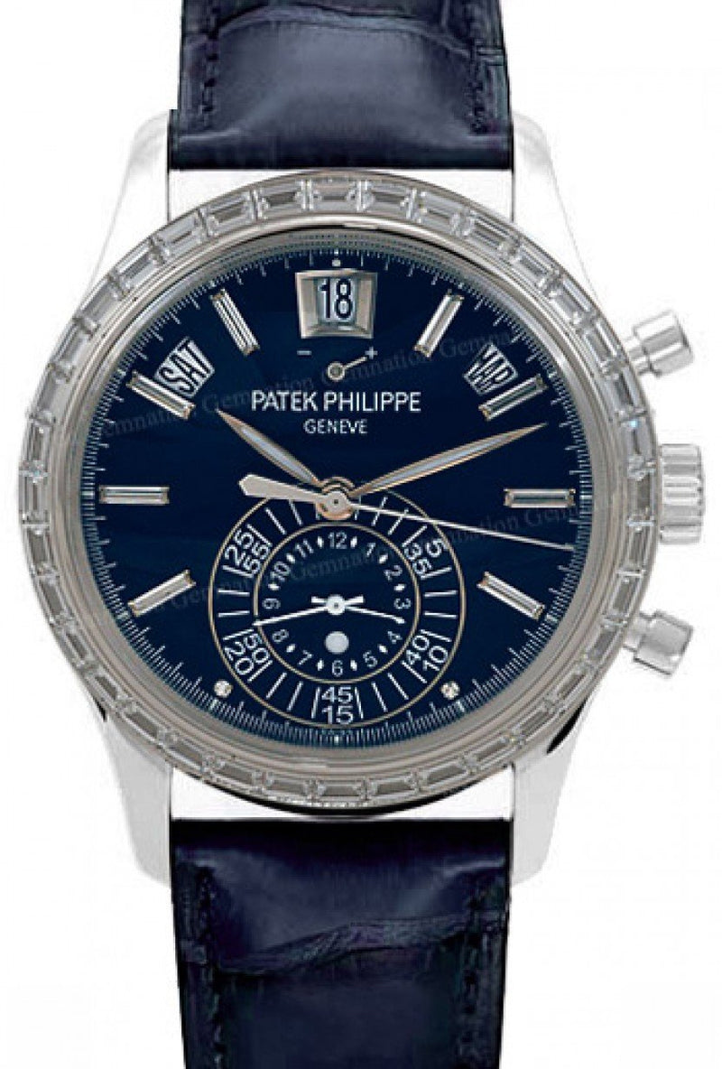 Men's Patek Philippe Complications 5961P 40.5mm Blue Index Platinum Diamond Set BRAND NEW