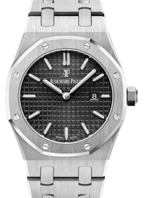 Audemars Piguet 67650ST.OO.1261ST.01 Royal Oak Quartz Ladies 33mm Black Index Stainless Steel - BRAND NEW - Global Timez
