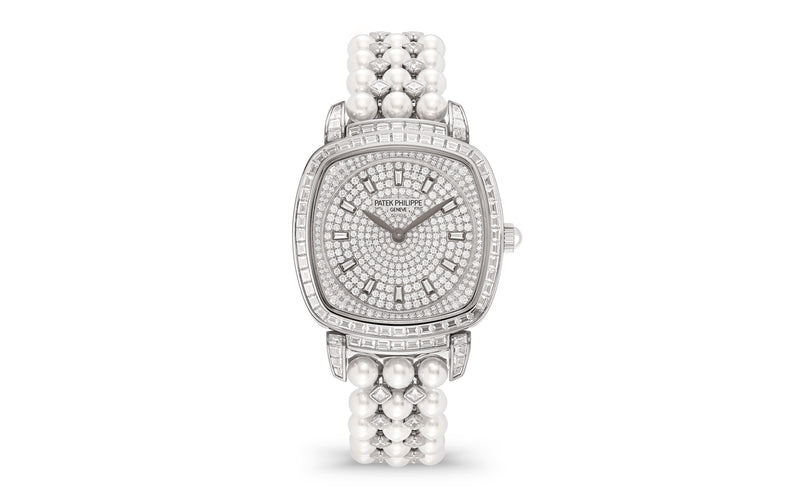 "Patek Philippe 7042/100G-001 Gondolo Ladies 31 Ã"""" 34.8mm Diamond Pave White Gold Diamond Set Manual - BRAND NEW"