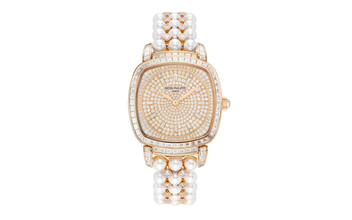 Patek Philippe 7042/100R-001 Gondolo Ladies 31 × 34.8mm Diamond Pave Rose Gold Diamond Set Manual - BRAND NEW - Global Timez