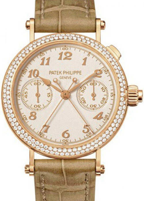 Patek Philippe 7059R-001 Grand Complications Ladies 33.2mm Silver Opaline Arabic Rose Gold Manual BRAND NEW - Global Timez