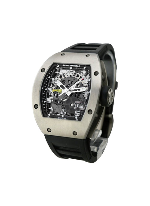 Men's Richard Mille RM 029 Automatic with Titanium on Black Rubber Strap with Skeleton Dial RM 29 Titanium PRE-OWNED