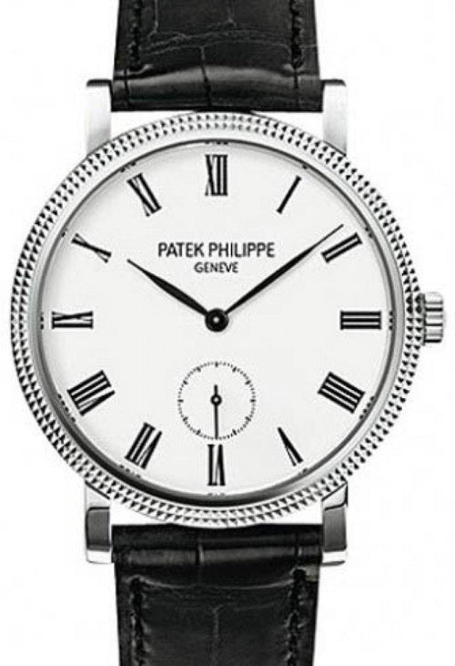 Patek Philippe 7119G-010 Calatrava Ladies 31mm Ivory Roman Hobnail White Gold Leather Manual BRAND NEW - Global Timez
