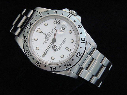Men's Rolex Stainless Steel Explorer II White 16570 PRE-OWNED - Global Timez