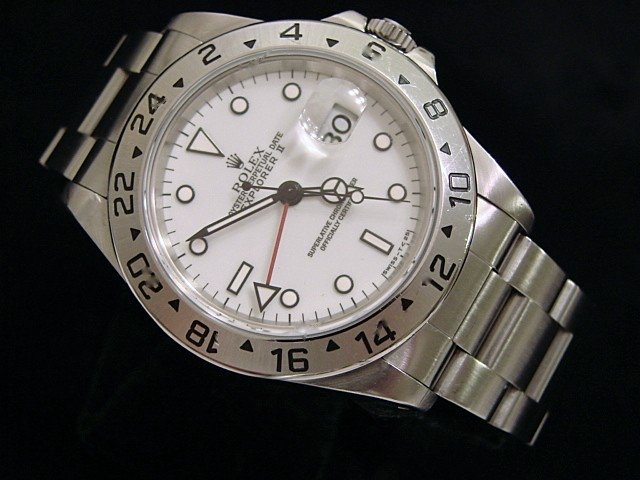 Men's Rolex Stainless Steel Explorer II White 16570 PRE-OWNED