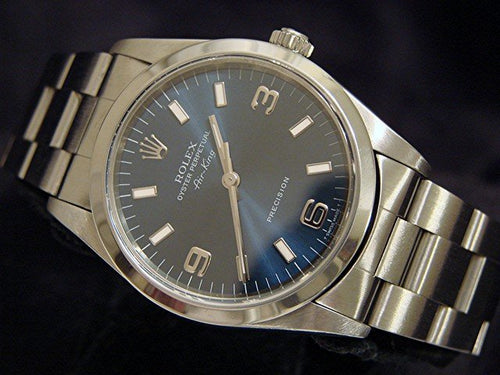 Men's Rolex Stainless Steel Air-King Blue Arabic 14000 PRE-OWNED