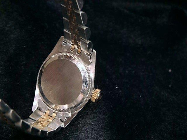 Ladies Rolex Two-Tone 18K/SS Oyster Perpetual Champagne 67183 PRE-OWNED