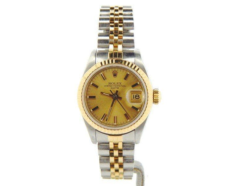 Ladies Rolex Date 69173 26m Vintage Watch PRE-OWNED - Global Timez