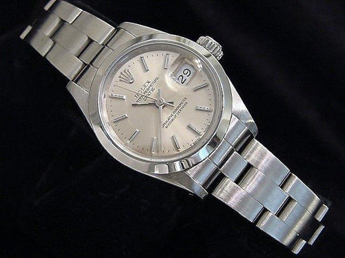 Ladies Rolex Stainless Steel Date Silver 69160 PRE-OWNED - Global Timez