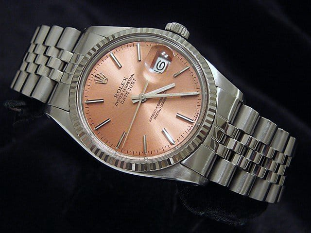 Men's Rolex Stainless Steel Datejust Salmon 16014 PRE-OWNED