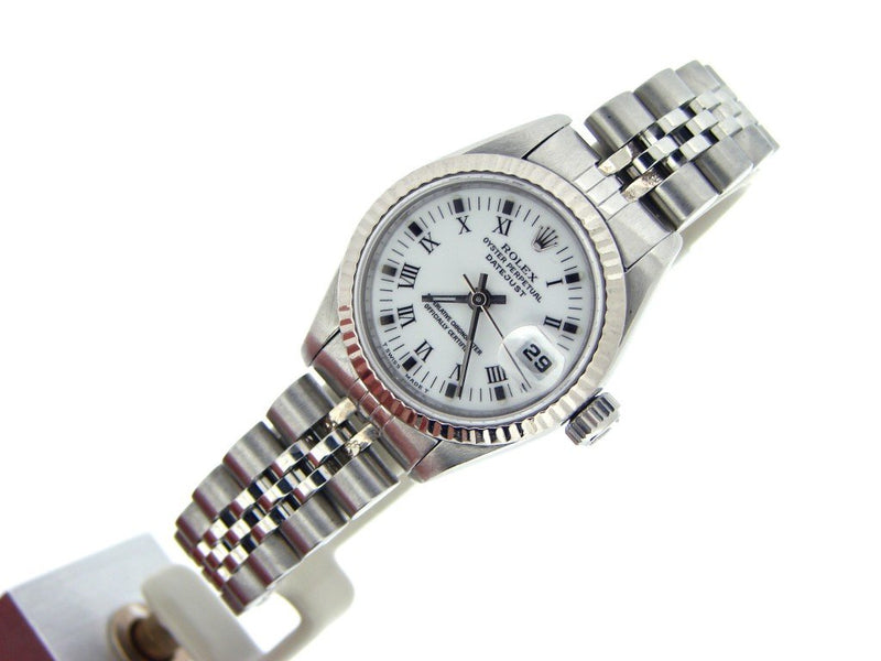 Ladies Rolex Stainless Steel Datejust White Roman 69174 PRE-OWNED
