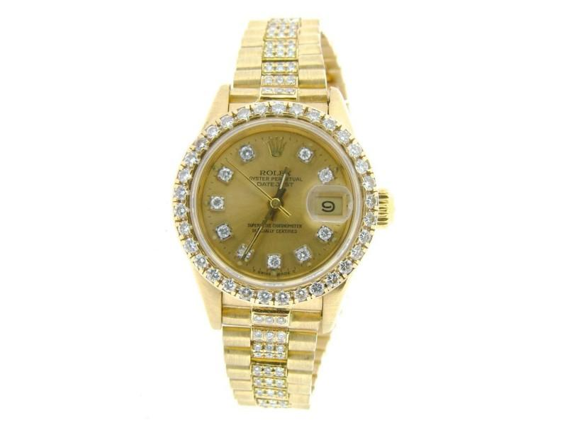 Ladies Rolex Datejust President 69178 Vintage 26mm Watch PRE-OWNED