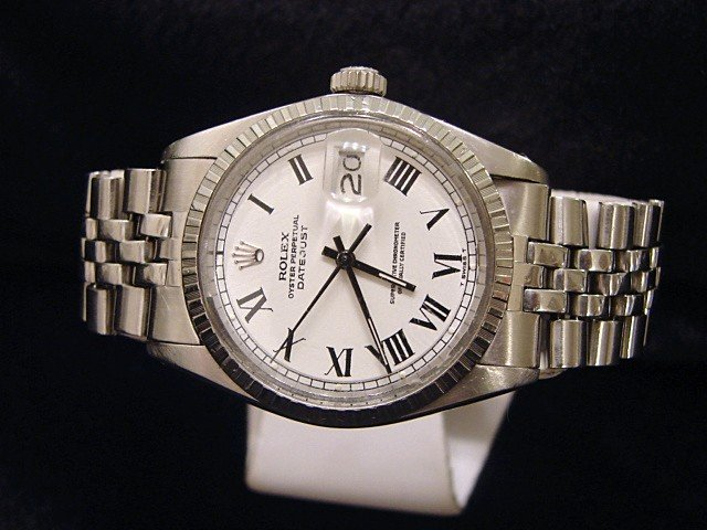 Men's Rolex Stainless Steel Datejust White Roman 1603 PRE-OWNED