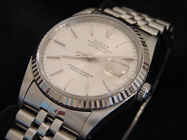 Men's Rolex Stainless Steel Datejust Silver 16234 PRE-OWNED