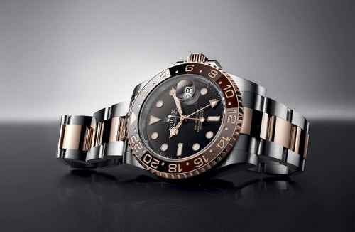 "Men's Rolex GMT-Master II ""Root Beer"" Rose Gold/Steel Black Dial Black/Brown Ceramic Bezel 126711CHNR - PRE-OWNED"