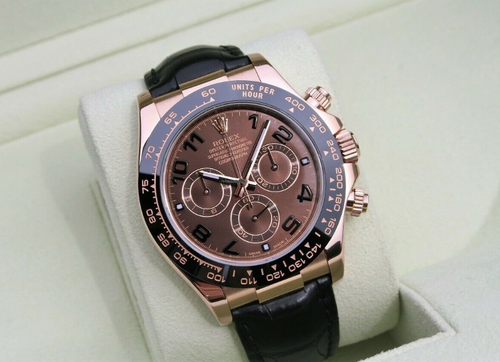 Men's Rolex Daytona Chronograph 18k Rose Gold Watch Ceramic Box/Papers 116515LN PRE-OWNED - Global Timez