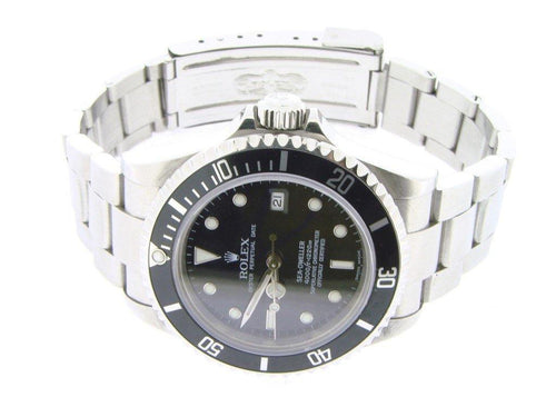 Men's Rolex Stainless Steel Sea-Dweller Black 16600 PRE-OWNED - Global Timez