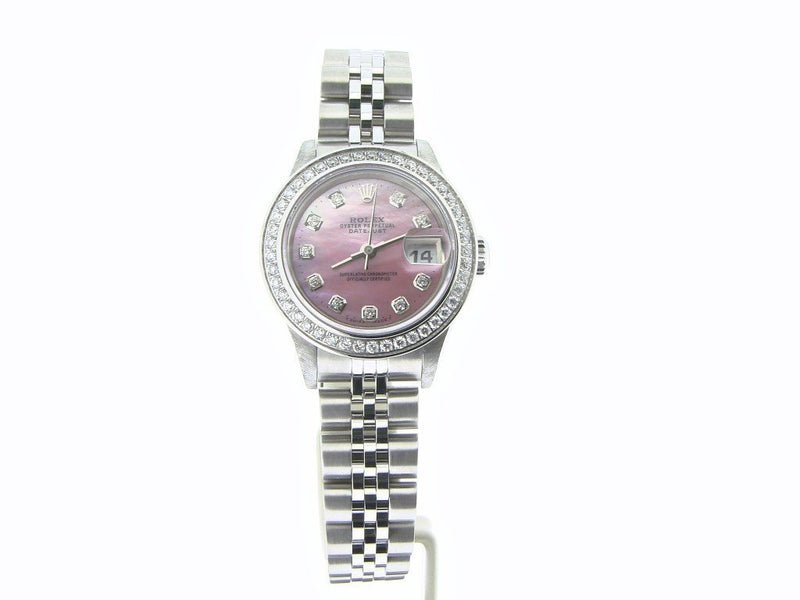 Ladies Rolex Stainless Steel Datejust Pink MOP Diamond PRE-OWNED
