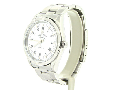 Men's Rolex Stainless Steel Air-King White Roman 14010 PRE-OWNED