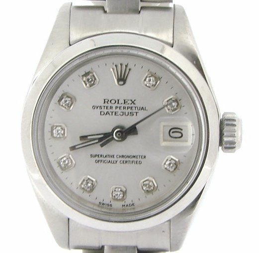 Ladies Rolex Stainless Steel Datejust White Diamond 6916 PRE-OWNED