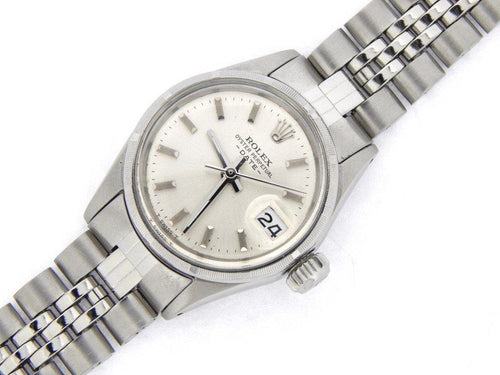 Ladies Rolex Stainless Steel Date Silver 6516 PRE-OWNED - Global Timez
