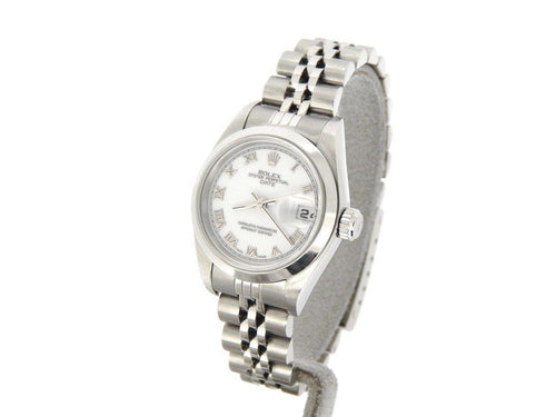 Ladies Rolex Stainless Steel Date White Roman 79160 PRE-OWNED - Global Timez