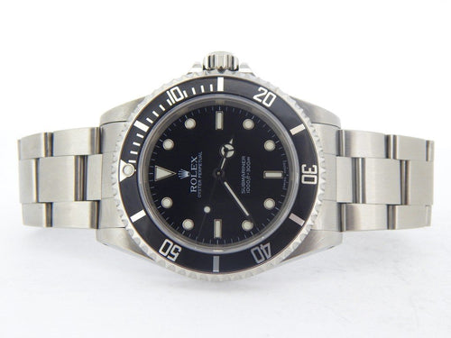 Men's Rolex Stainless Steel Submariner Black 14060M PRE-OWNED