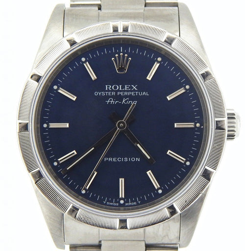 Men's Rolex Stainless Steel Air-King Blue 14010 PRE-OWNED