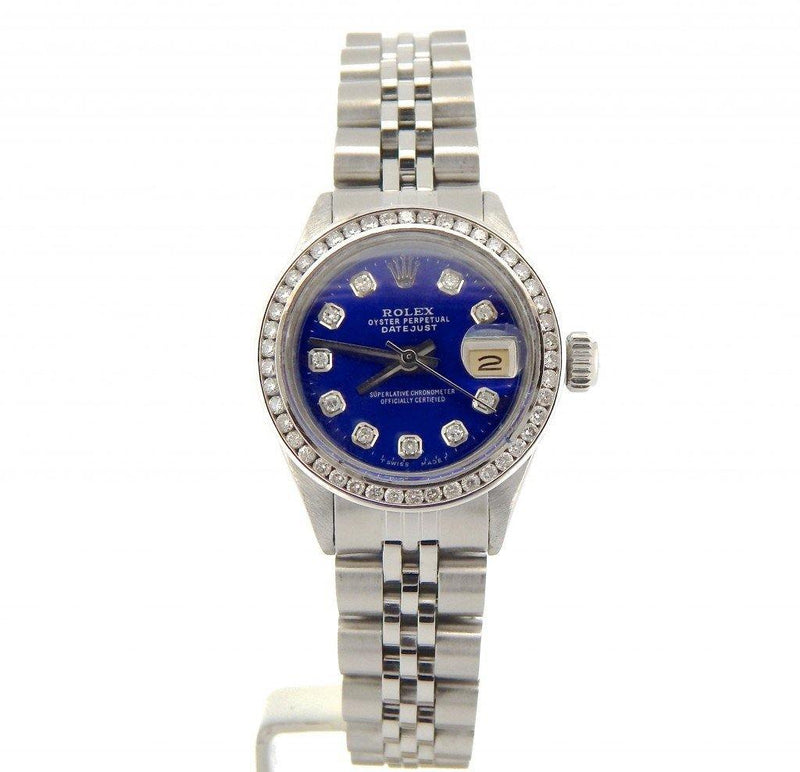 Ladies Rolex Stainless Steel Datejust Blue Diamond PRE-OWNED
