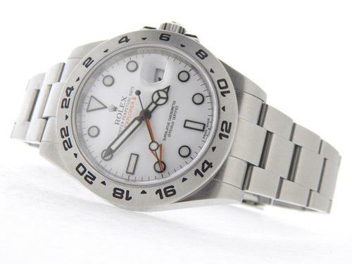 Men's Rolex Stainless Steel Explorer II 42mm White 216570 PRE-OWNED