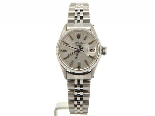 Rolex Ladies Stainless Steel Date Silver 6516 PRE-OWNED - Global Timez