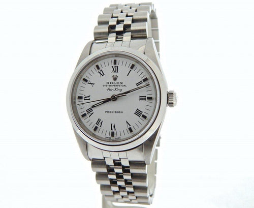 Men's Rolex Stainless Steel Air-King White Roman 14000 PRE-OWNED - Global Timez