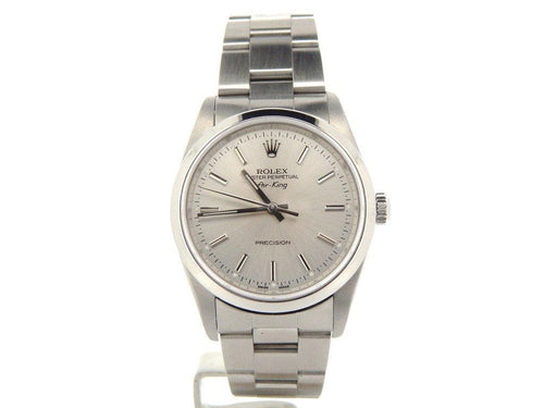 Men's Rolex Stainless Steel Air-King Silver 14000M PRE-OWNED - Global Timez