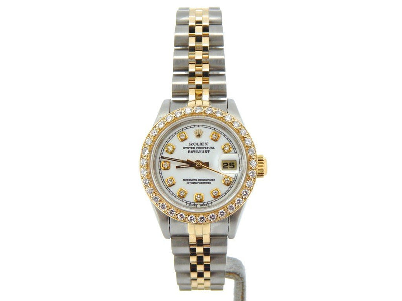 Ladies Rolex Two-Tone Datejust White Diamond 69173 PRE-OWNED