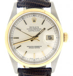 Men's Rolex Two-Tone 18K/SS Datejust Silver 16203 PRE-OWNED