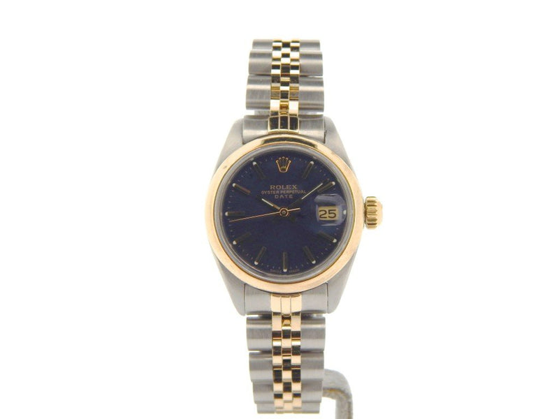 Ladies Rolex Two-Tone Date Blue PRE-OWNED