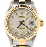 Ladies Rolex Two-Tone Datejust Silver Anniversary Diamond 79173 PRE-OWNED