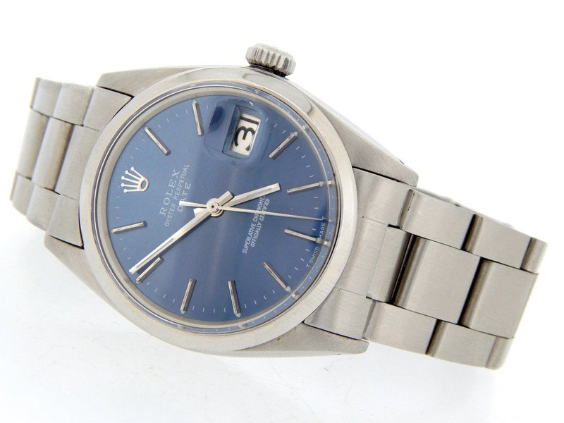 Men's Rolex Stainless Steel Date Blue 1500 PRE-OWNED